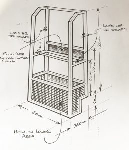 Sketch of customised rack