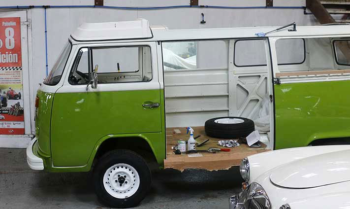 VW campervan restoration project
