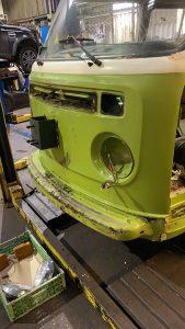 VW Campervan stripped down