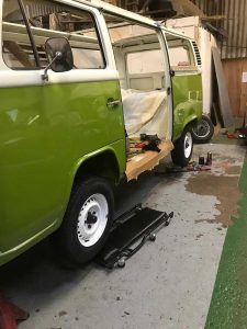 VW Camper being restored