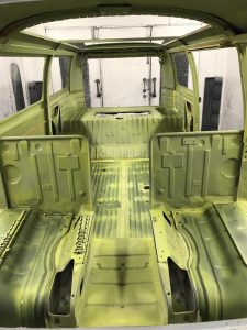 VW Campervan interior bodwork