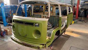 VW Campervan before restoration